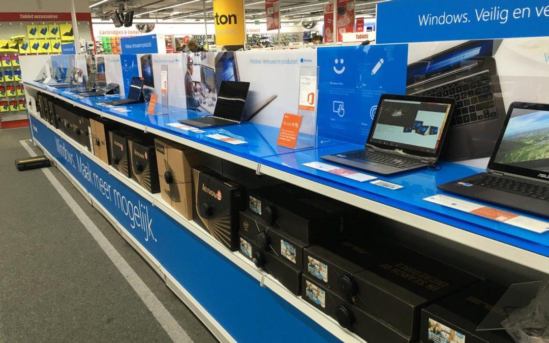 Windowszone van 8,5 meter @ Media Markt