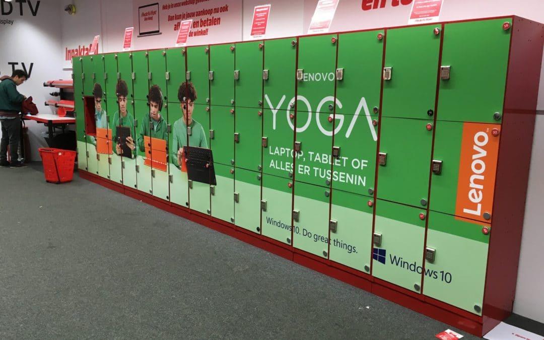 Kluisjes in Lenovo stijl bij Media Markt