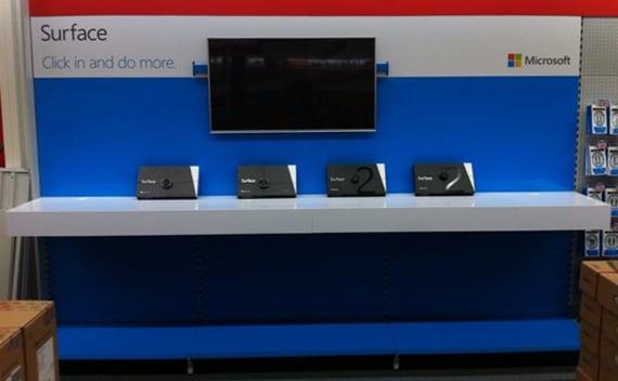 Een speciale Microsoft Surface wand bij Media Markt
