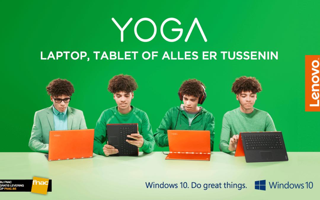 Opvallend Lenovo Yoga Billboard knalt je tegemoet
