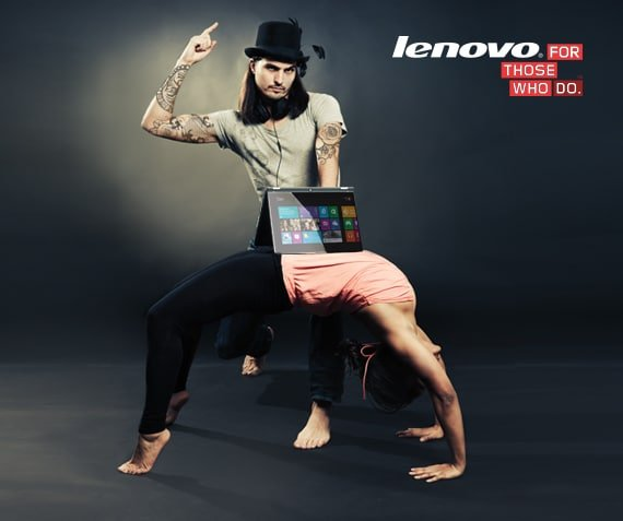 Yoga yourself met Lenovo.