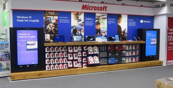 Windows 10 wand bij Media Markt Den Haag