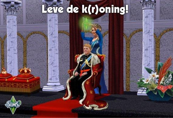 Lang leve de koning(in) met De Sims
