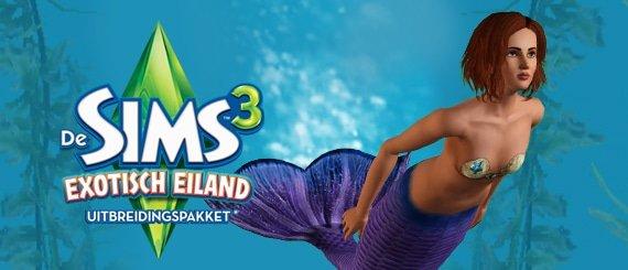 Ontdek de zeemeersims in Sims 3 Exotisch Eiland