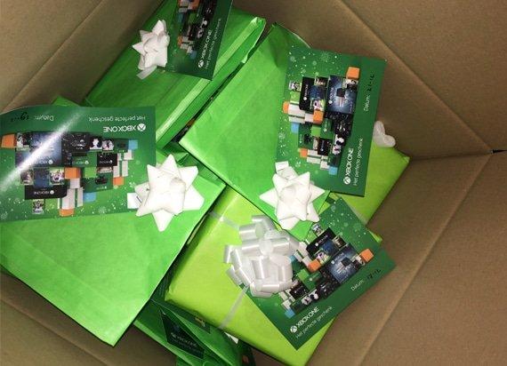 Xbox cadeau box voor de pers