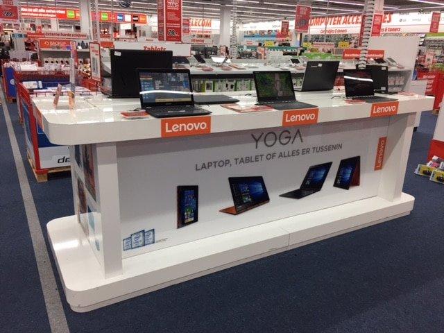 Lenovo tafel in Media Markt