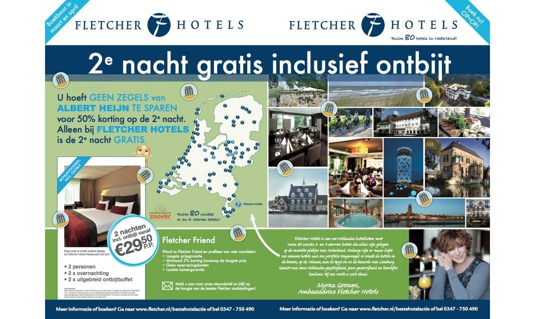 Fletcher 2e nacht gratis hotel-actie