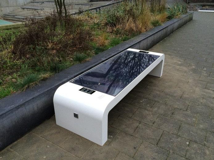 Solar zitbank – even lekker opladen in de zon