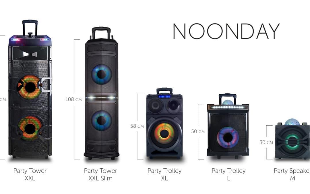 Noonday speakers – fotografie en verpakkingontwerp