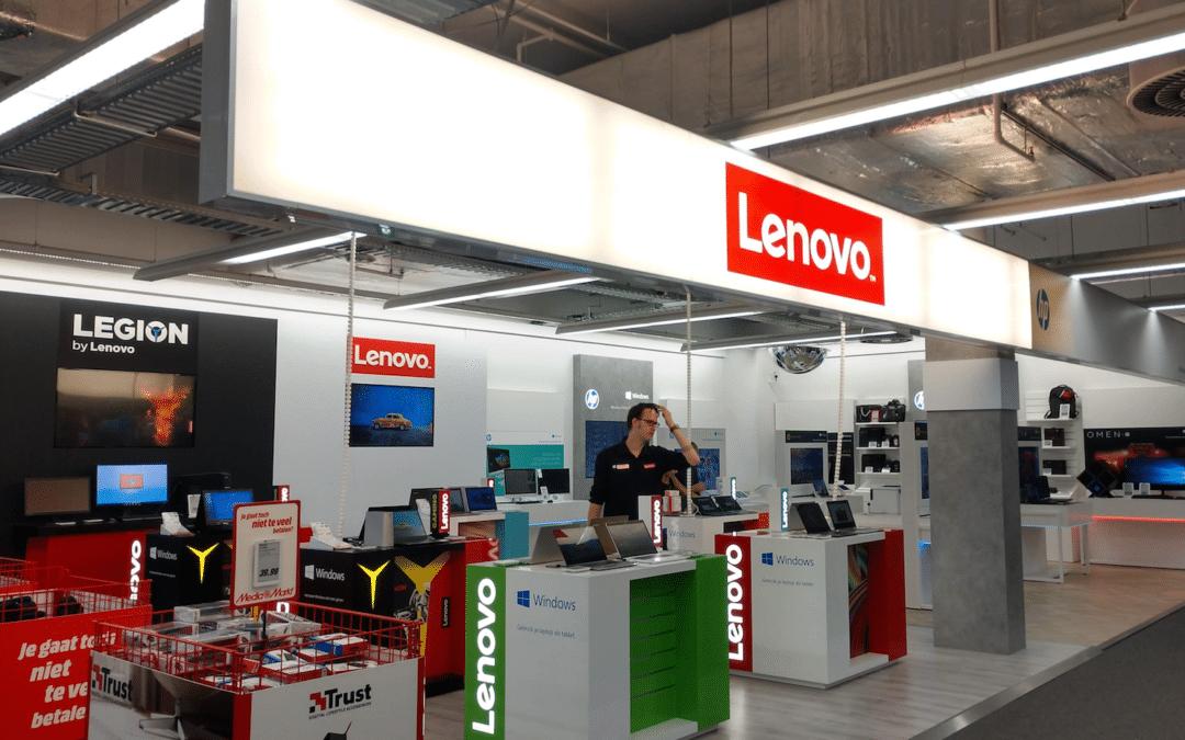 De nieuwe shop in shop van Lenovo bij Media Markt Arena