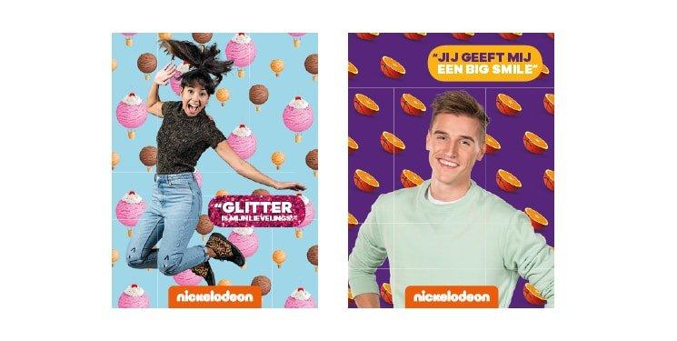 Handtekening kaarten voor Nienke & Wout van Nickelodeon