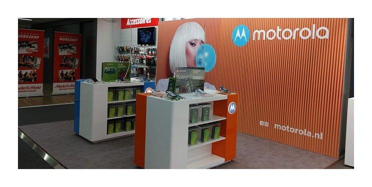 De Motorola shop-in-shop bij Media Markt
