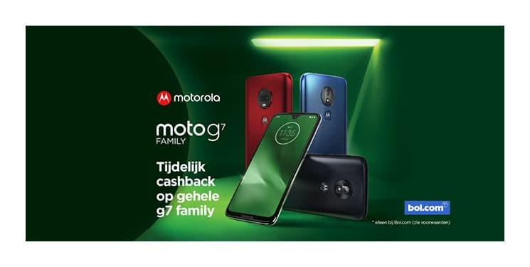 Motorola Cashback actie bij Bol.com