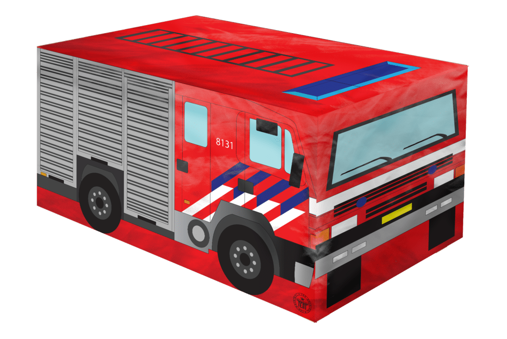Tafelkleedtent brandweerauto